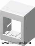 """Коробка 2М наружного монтажа CUBO, """"алюминий"""""""