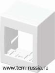 Коробка 2М наружного монтажа CUBO, белая