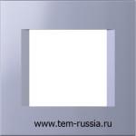 """Рамка """"LINE"""" декоративная 2 модуля, IB синий металлик"""