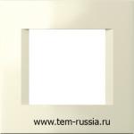 """Рамка """"LINE"""" декоративная 2 модуля, IW слоновая кость"""