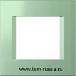 "Рамка ""LINE"" декоративная 2 модуля, MG зеленый металлик"