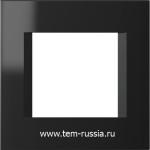 "Рамка ""LINE"" декоративная 2 модуля, NB чёрный"