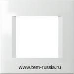 """Рамка """"LINE"""" декоративная 2 модуля, PW белый"""