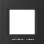 """Рамка """"LINE"""" декоративная 2 модуля, SB черный матовый"""