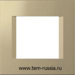 """Рамка """"LINE"""" декоративная 2 модуля, SG золотой металлик"""