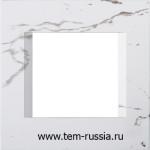 """Рамка """"LINE"""" декоративная 2 модуля, SW белый камень"""