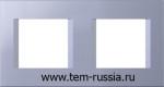 """Рамка """"LINE"""" декоративная 2х2 модуля, IB синий металлик"""