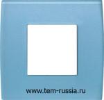 """Рамка 2М """"PURE"""" декоративная, GB стекло """"синий лёд"""""""