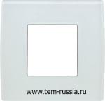 "Рамка 2М ""PURE"" декоративная, GW  стекло ""белый лёд"""