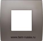 "Рамка 2М ""PURE"" декоративная, MN металл ""никель"""