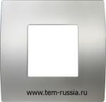 "Рамка 2М ""PURE"" декоративная, MS металл ""серебро"""