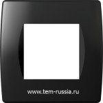 "Рамка ""SOFT"" декоративная 2 модуля, NB чёрный"