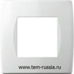 """Рамка """"SOFT"""" декоративная 2 модуля, PW белый"""
