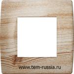 """Рамка """"SOFT"""" декоративная 2 модуля, WР сосна"""
