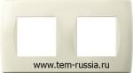 """Рамка """"SOFT"""" декоративная 2х2 модуля, IW слоновая кость"""