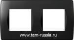 """Рамка """"SOFT"""" декоративная 2х2 модуля, NB чёрный"""